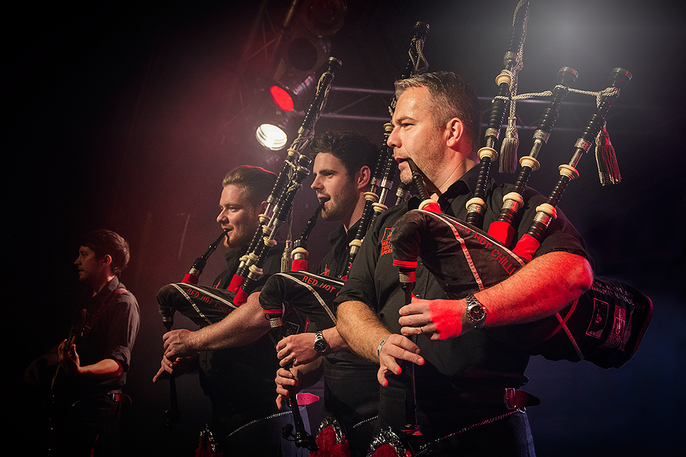 Red Hot Chilli Pipers | Kevin MacDonald | Cameron Barnes | Dougie McCance | Fenja Hardel