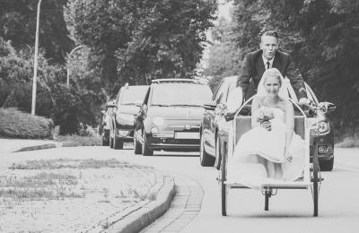 Hochzeit mit Rikscha in Molfsee
